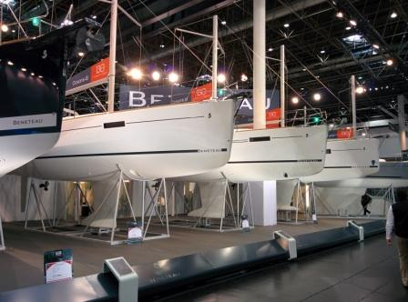 All the Beneteau's present and correct at Dusseldorf