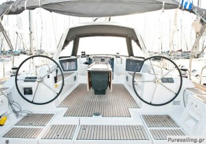 yacht charter greece - cockpit