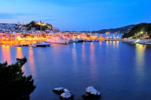 Skiathos by night