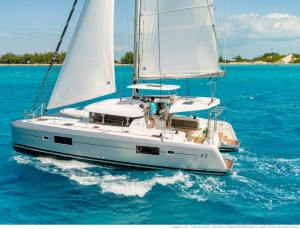 Lagoon 42 in Lefkas for charter from Athens
