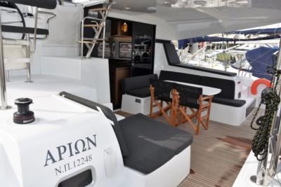 Sailing catamaran for charter